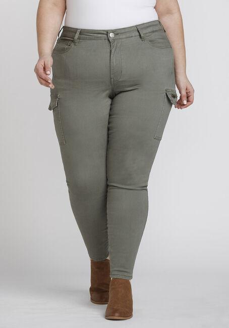 Women's Plus Size Cargo Skinny Pant