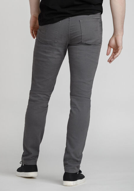 Men's Coloured Skinny Jeans, STEEL GREY, hi-res