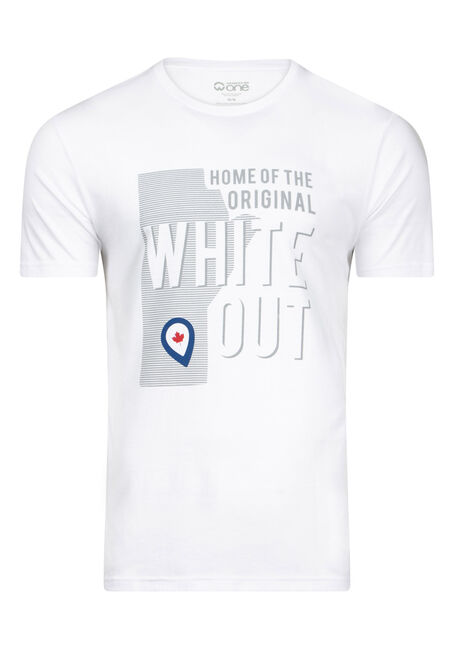 Men's White Out Playoff Tee