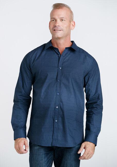 Men's Grid Pattern Shirt