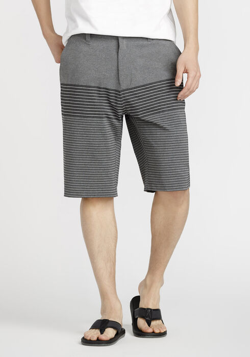 Men's Colour Blocked Hybrid Short, GREY, hi-res