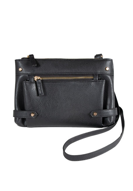 Women's Zipper Front Cross Body Bag