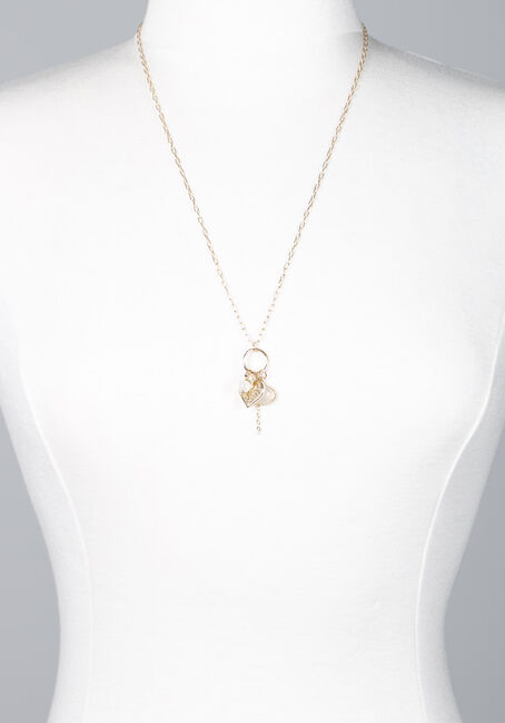 Women's Gold Cluster Pendant Necklace