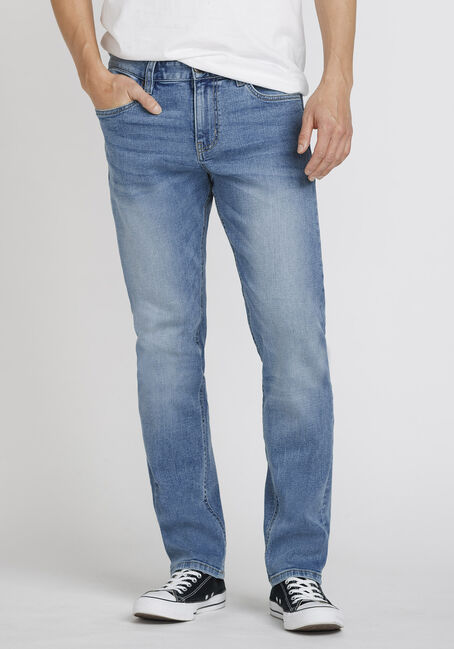 Men's Light Wash Slim Fit Jeans