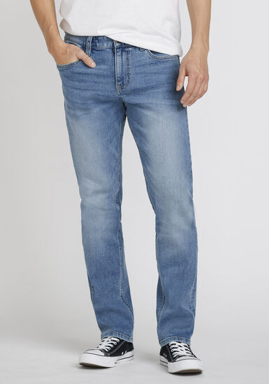 Men's Light Wash Slim Fit Jeans, LIGHT WASH, hi-res