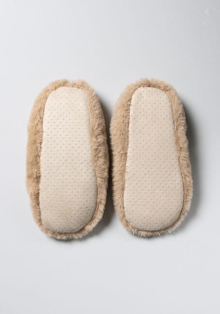 Women's Cozy Slippers, BROWN, hi-res