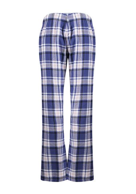 Ladies' Plaid Lounge Pant, PURPLE, hi-res