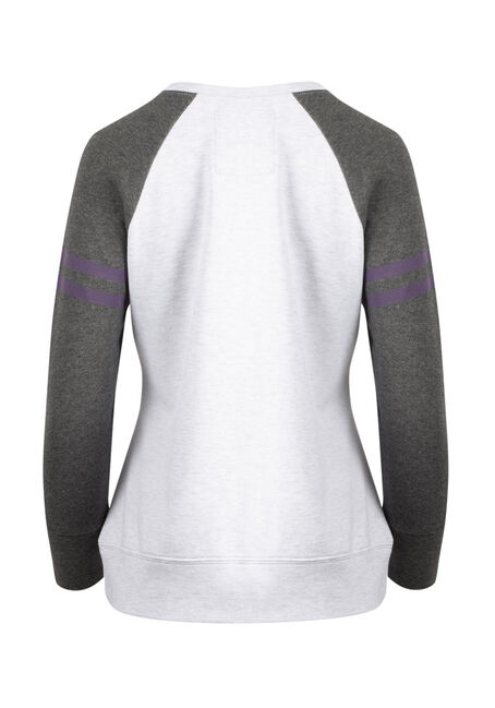 Women's Love Football Fleece, HEATHER GREY, hi-res