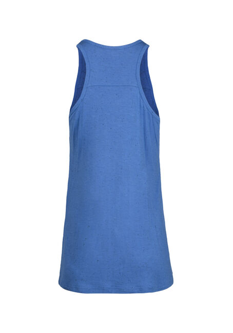 Women's Speckled Racerback Tank, ISLAND BLUE, hi-res