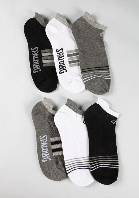 Men's 6 Pair Spalding Socks