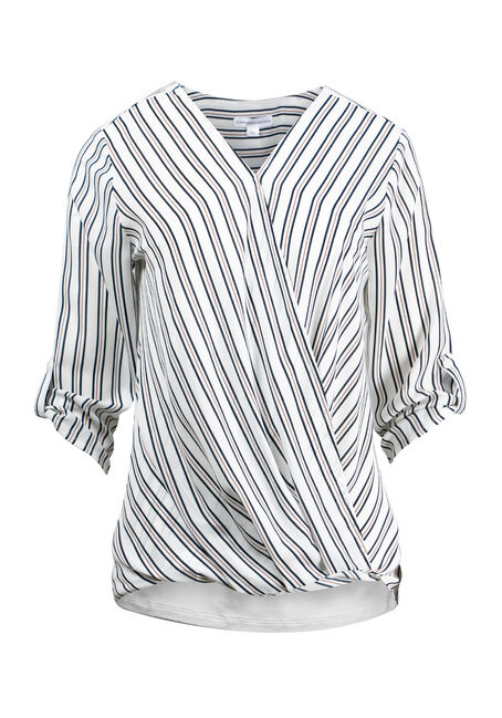 Women's Stripe Cross Front Top