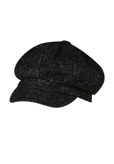 Ladies' Metallic Newsboy Hat