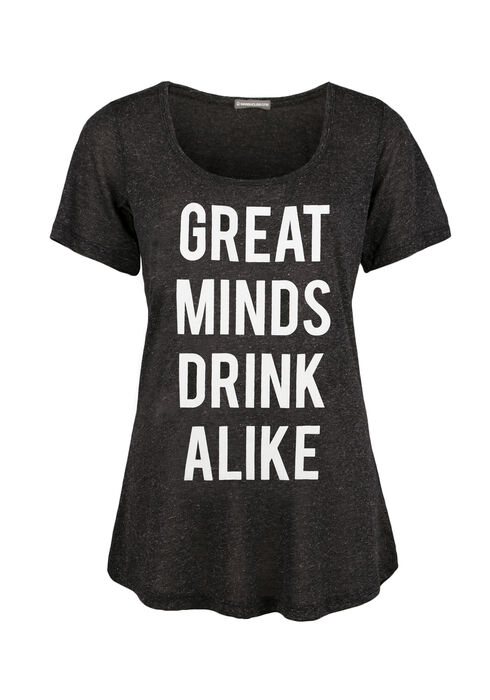 Ladies' Great Minds Drink Alike Tee, BLACK, hi-res