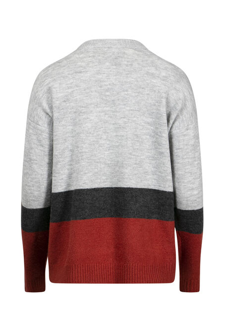 Women's Colour Block Sweater, MULTI, hi-res