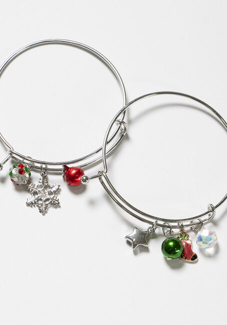 Women's Christmas Bangles, MULTI, hi-res