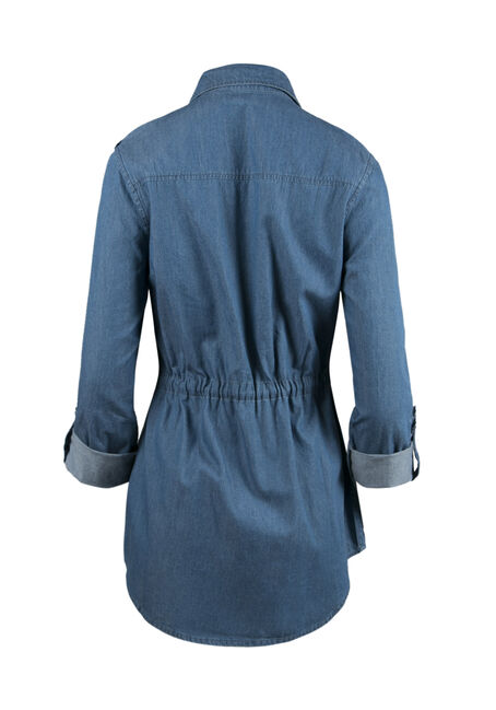 Ladies' Utility Jacket, DENIM BLUE, hi-res