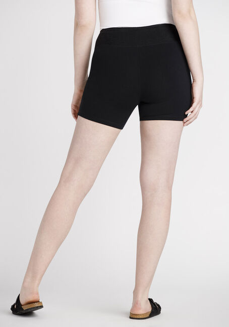 Women's Mid Rise Biker Short, BLACK, hi-res
