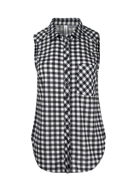 Ladies' Knit Gingham Shirt