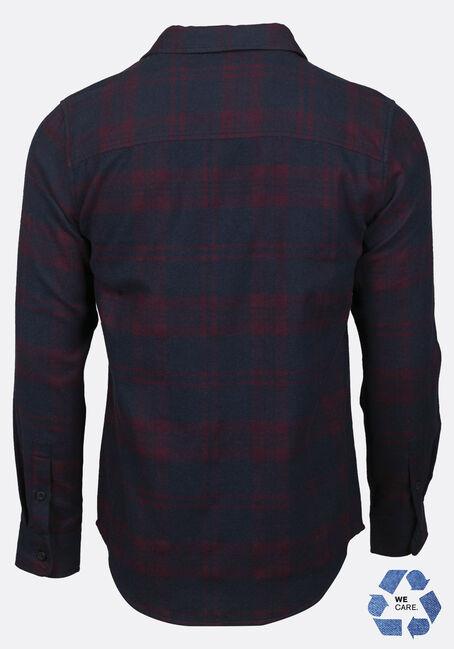 Men's Plaid Flannel Shirt, TRUE WINE, hi-res