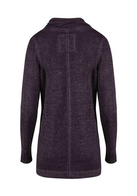 Women's Burnout Tunic Fleece Wrap, HORTENSIA, hi-res