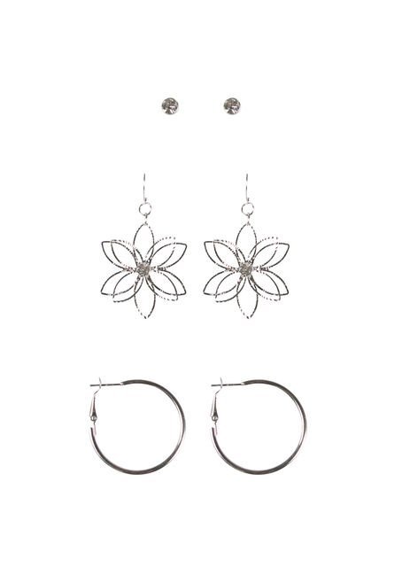 Ladies' Daisy Trio Earring Set