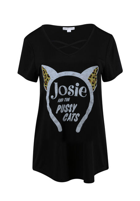 Ladies' Josie Cross Neck Tee