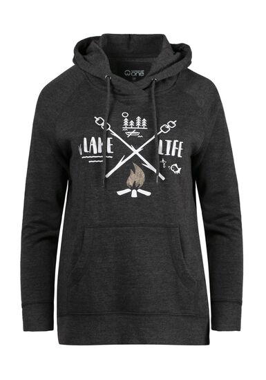 Women's Lake Life Hoodie, CHARCOAL, hi-res