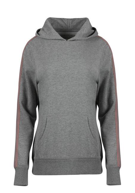 Women's Stripe Sleeve Hoodie