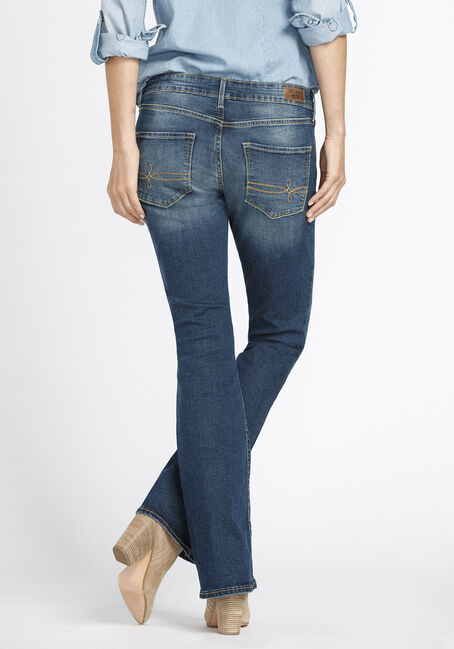 Ladies' Boot Cut Jeans, MEDIUM WASH, hi-res