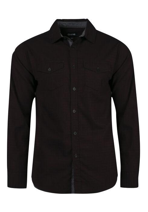 Men's Comfort Stretch Textured Shirt, FIG, hi-res