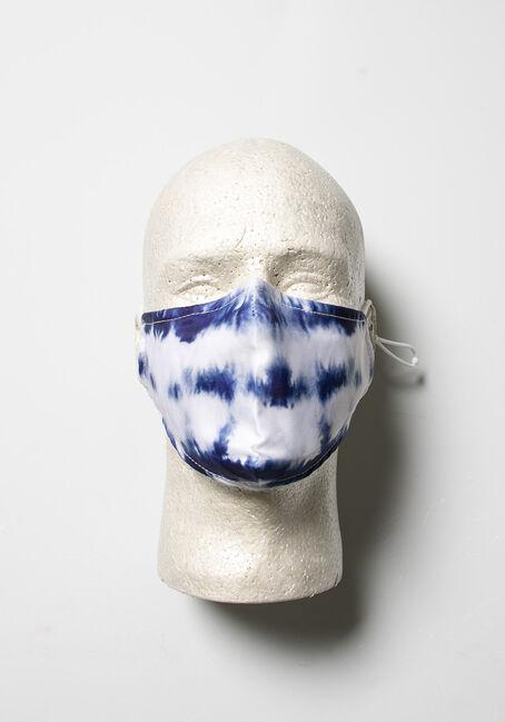 Tie Dye Face Mask, BLUE, hi-res
