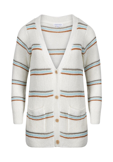 Women's Stripe Novelty Cardigan