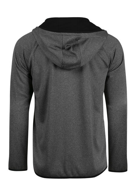 Men's  Zip Front Athletic Hoodie, HEATHER GREY, hi-res
