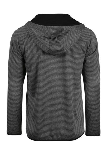 Men's  Zip Front Athletic Hoodie, HEATHER GREY, hi-res