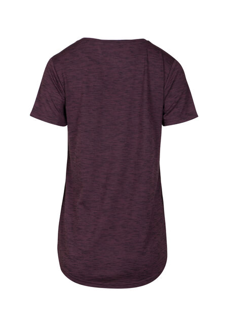Women's Drapey V-Neck Space Dye Tee, PURPLE, hi-res