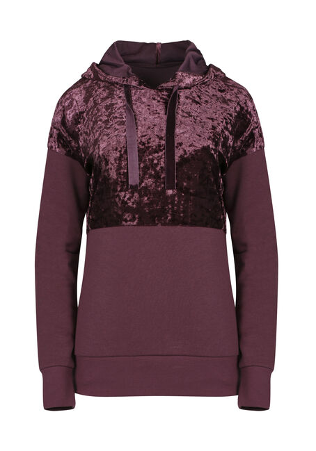 Ladies' Crushed Velvet Hoodie