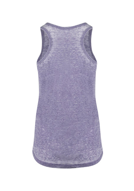 Ladies' Burnout Racerback Tank, PURPLE, hi-res