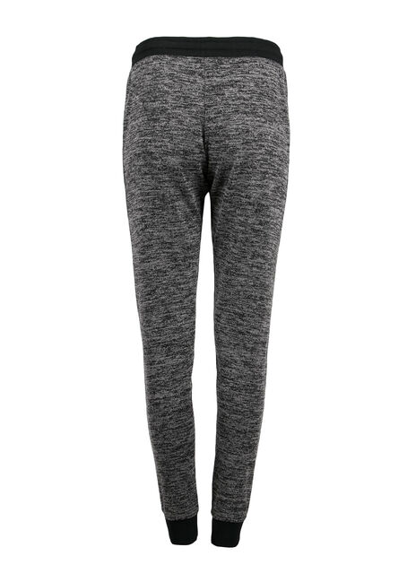 Ladies' Space Dye Jogger, BLACK, hi-res