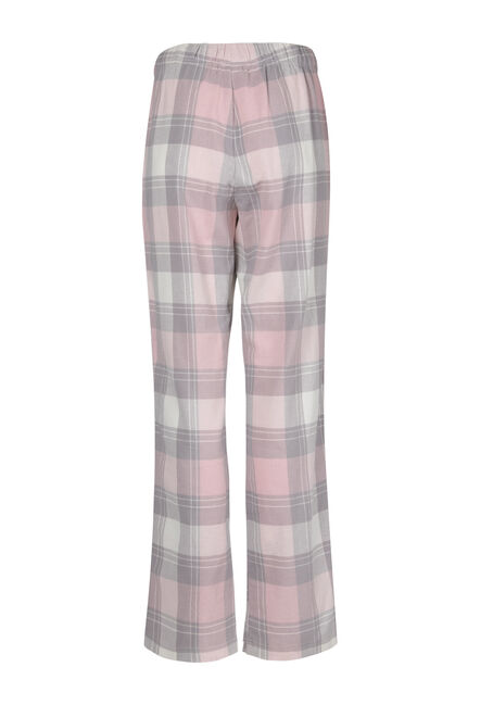 Ladies' Plaid Flannel Pant, TICKLED PINK, hi-res