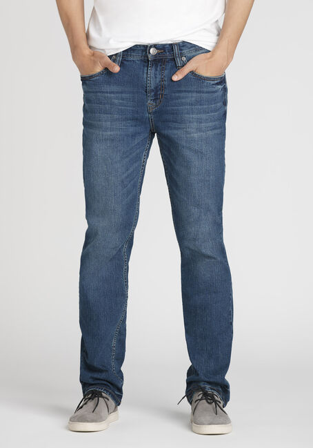 Men's Mid Wash Slim Straight Jeans