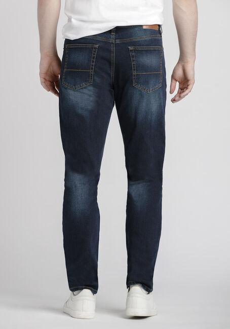 Men's Dark Wash Athletic Jeans, DARK WASH, hi-res
