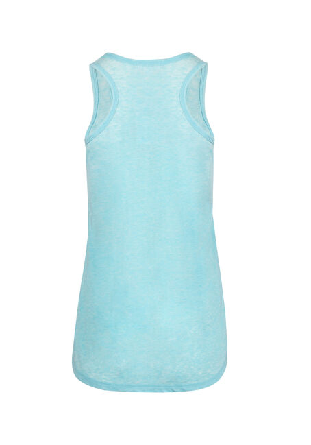 Ladies' Burnout Racerback Tank, AQUA, hi-res