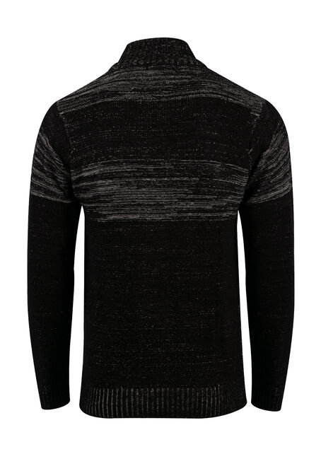 Men's Chest Stripe Sweater, BLACK, hi-res