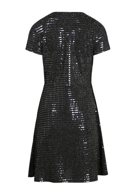 Women's Shimmer Wrap Dress, SILVER, hi-res