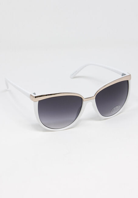 Women's Gold Brow Bar Sunglasses