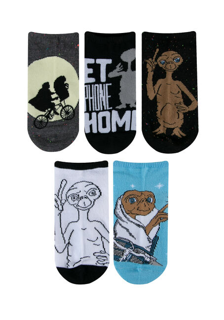 Women's 5 Pair E. T. Socks, AQUA, hi-res