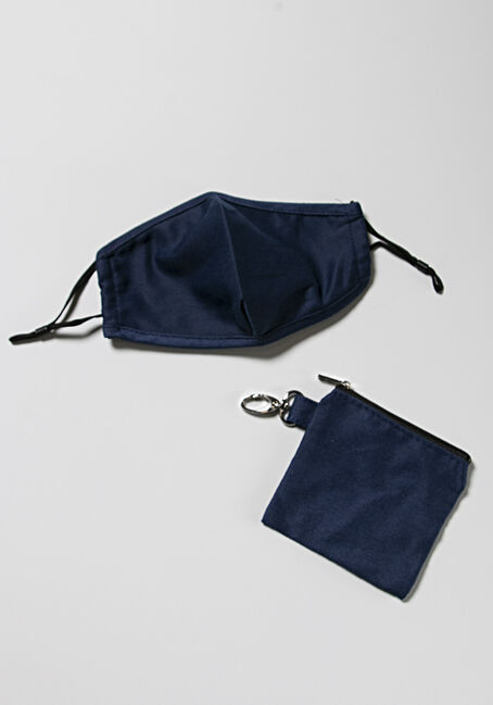 Mask With Carrying Case, NAVY, hi-res