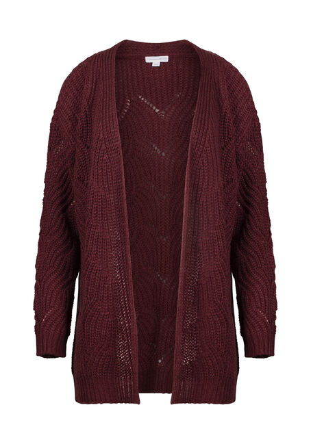 Women's Chunky Knit Pointelle Cardigan
