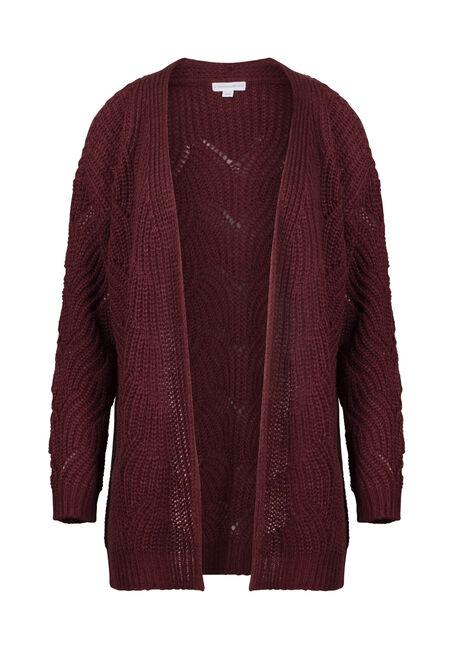 Women's Chunky Knit Pointelle Cardigan