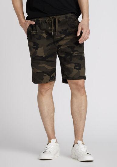 Men's Camo Jogger Short, DARK OLIVE, hi-res